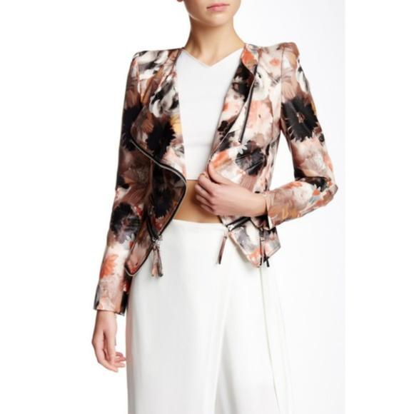 TOV Holy Jackets & Blazers - NEW! TOV Los Angeles Floral Moto Jacket